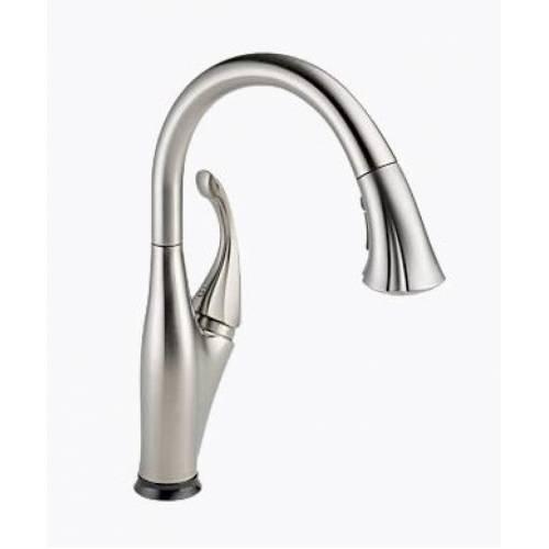 delta addison single handle pull down kitchen faucet delta addison single handle pull down sprayer kitchen