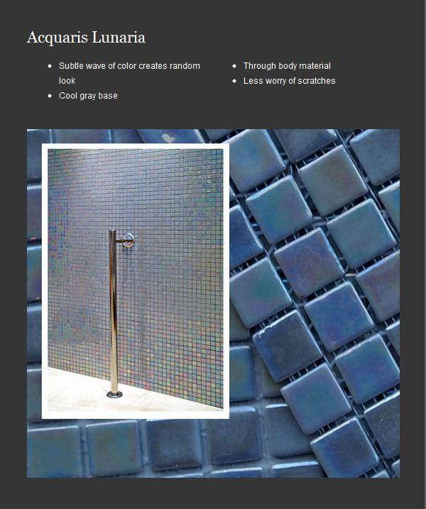Sark Collection Iridescent Glass Tiles