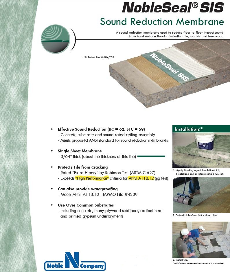Nobleseal Sis Sound Reduction Membrane 200 Sf Roll