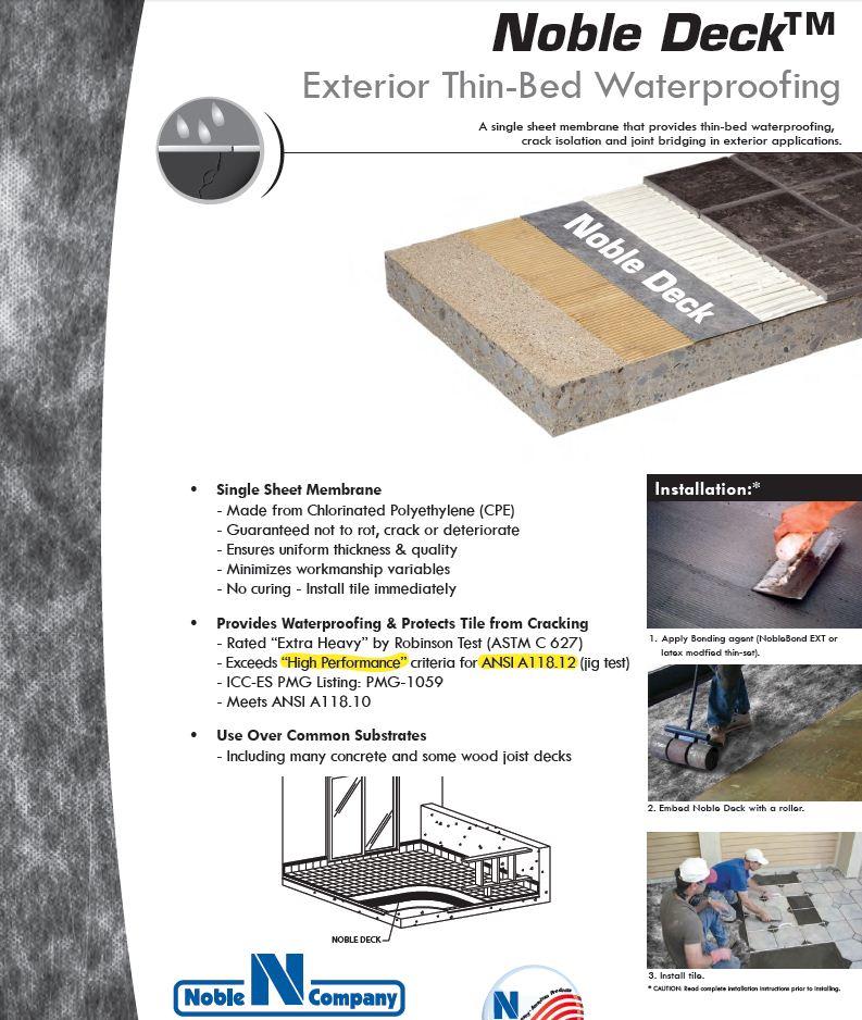 Noble Deck Exterior Waterproofing Membrane 300 SF Roll