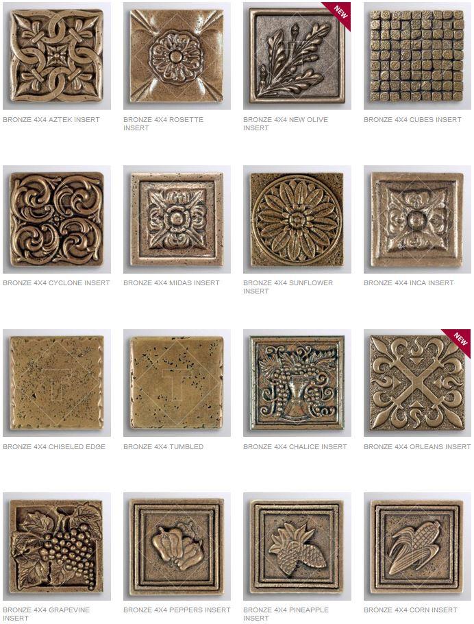 Bronze Inserts Decorative Muretto Plates
